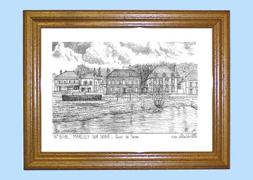 Cadre bois teint impression noir sur la ville de marcilly - Piscine bois de reves asnieres sur seine ...