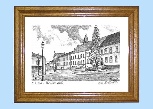 Cadre bois teint impression noir sur la ville de for Piscine de bouzonville