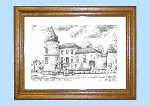 Cadre bois teint impression noir sur la ville de trie for Piscine trie chateau