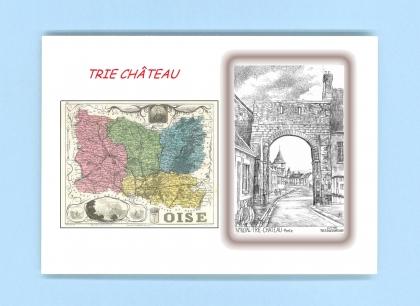 Cartes postales impression noir avec d partement sur la for Piscine trie chateau