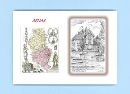 Cartes postales de genas 69 rhone yves ducourtioux for Recherche hotel sur carte