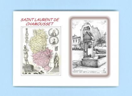 Cartes postales de st laurent de chamousset 69 rhone yves ducourtioux editeur souvenirs ville - Piscine st laurent de chamousset ...