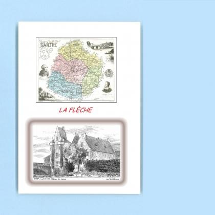 Cartes postales impression noir avec d partement sur la for Piscine la fleche