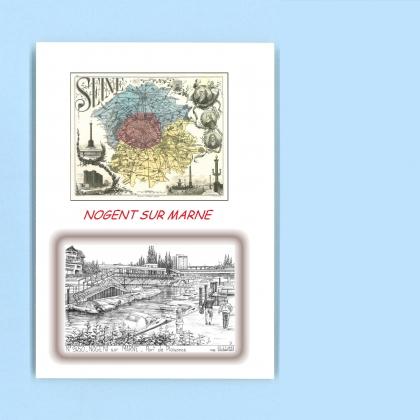 Cartes postales impression noir avec d partement sur la - Port de nogent sur marne ...
