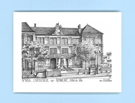Cartes postales impression noir sur la ville de for Piscine chasseneuil sur bonnieure