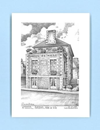 Cartes postales impression noir sur la ville de broons for Recherche hotel sur carte