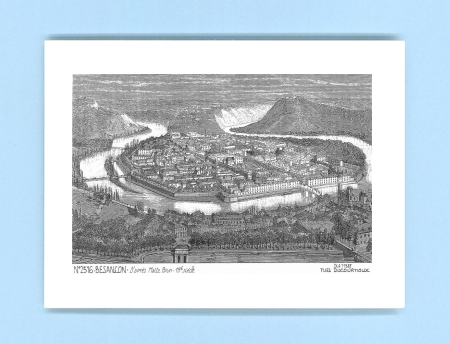 Cartes postales impression noir sur la ville de besancon titre vue - Piscine eau noire besancon ...