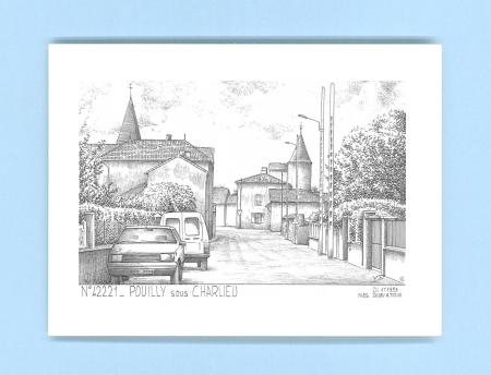 cartes postales impression noir sur la ville de pouilly sous charlieu titre vue. Black Bedroom Furniture Sets. Home Design Ideas