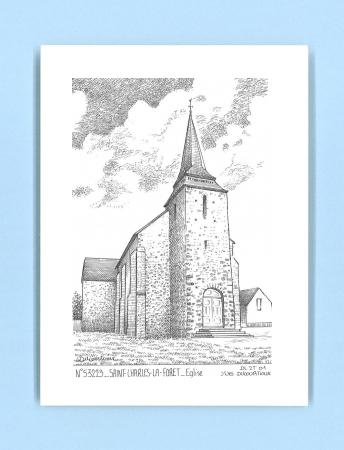 Cartes postales impression noir sur la ville de st charles la foret titre glise - Piscine foret noire allemagne saint denis ...