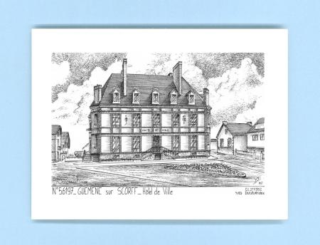 Cartes postales impression noir sur la ville de guemene for Recherche hotel sur carte
