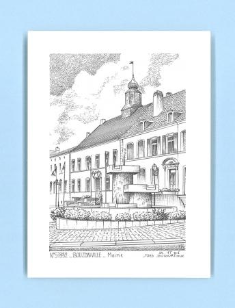 Cartes postales impression noir sur la ville de for Piscine de bouzonville