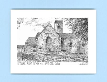 Cartes postales impression noir sur la ville de st denis sur sarthon titre glise - Piscine foret noire allemagne saint denis ...