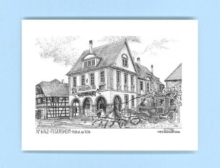Cartes postales impression noir sur la ville de fegersheim for Recherche hotel sur carte