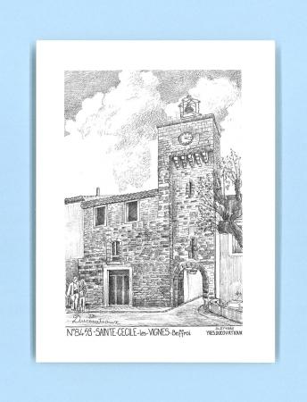 Cartes postales impression noir sur la ville de ste cecile - Carrelage icard ste cecile les vignes ...