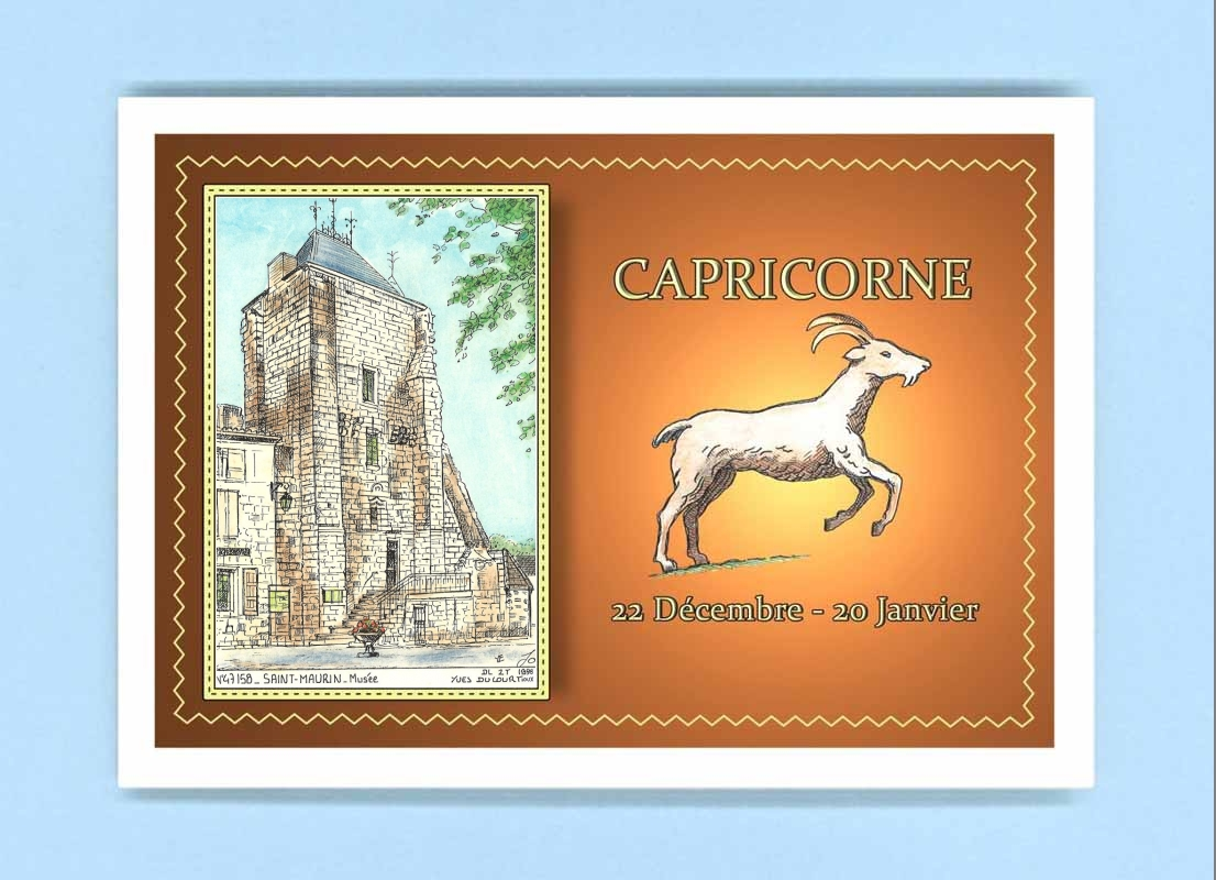 CP-AC-47158-CARTE-POSTALE-Zodiaque-CAPRICORNE-47-SAINT-MAURIN