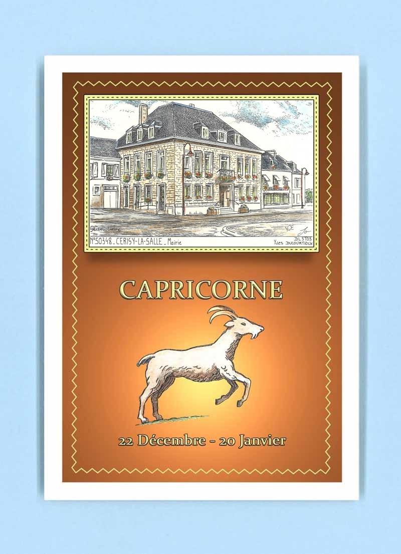 CP-AC-50348-CARTE-POSTALE-Zodiaque-CAPRICORNE-50-CERISY-LA-SALLE