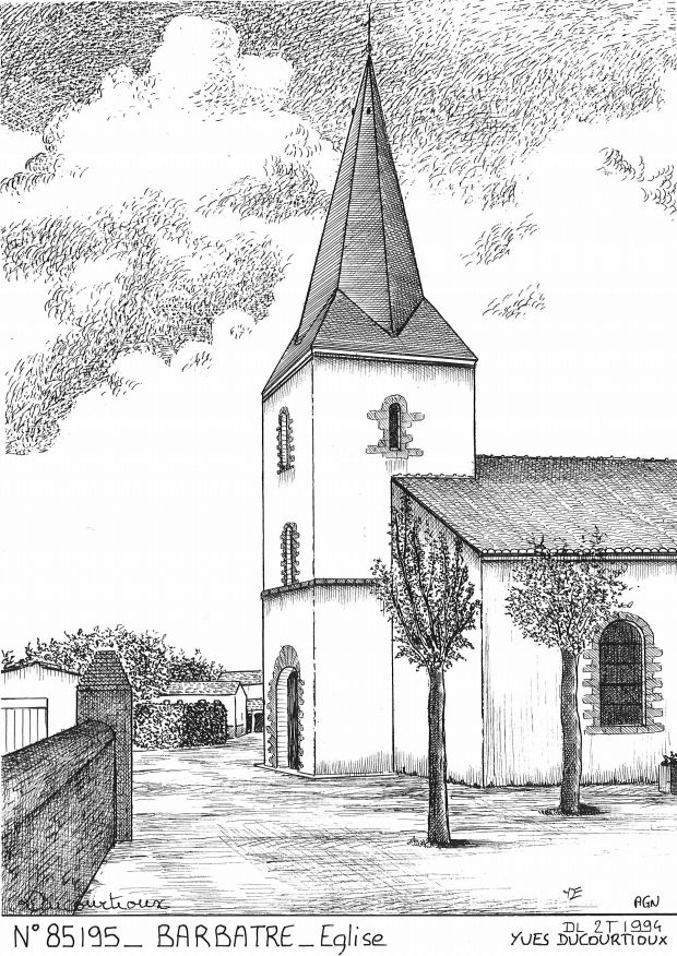 N° 85195 - BARBATRE - église