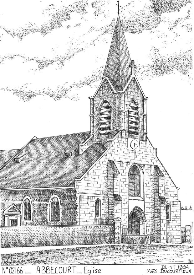 N° 02166 - ABBECOURT - église