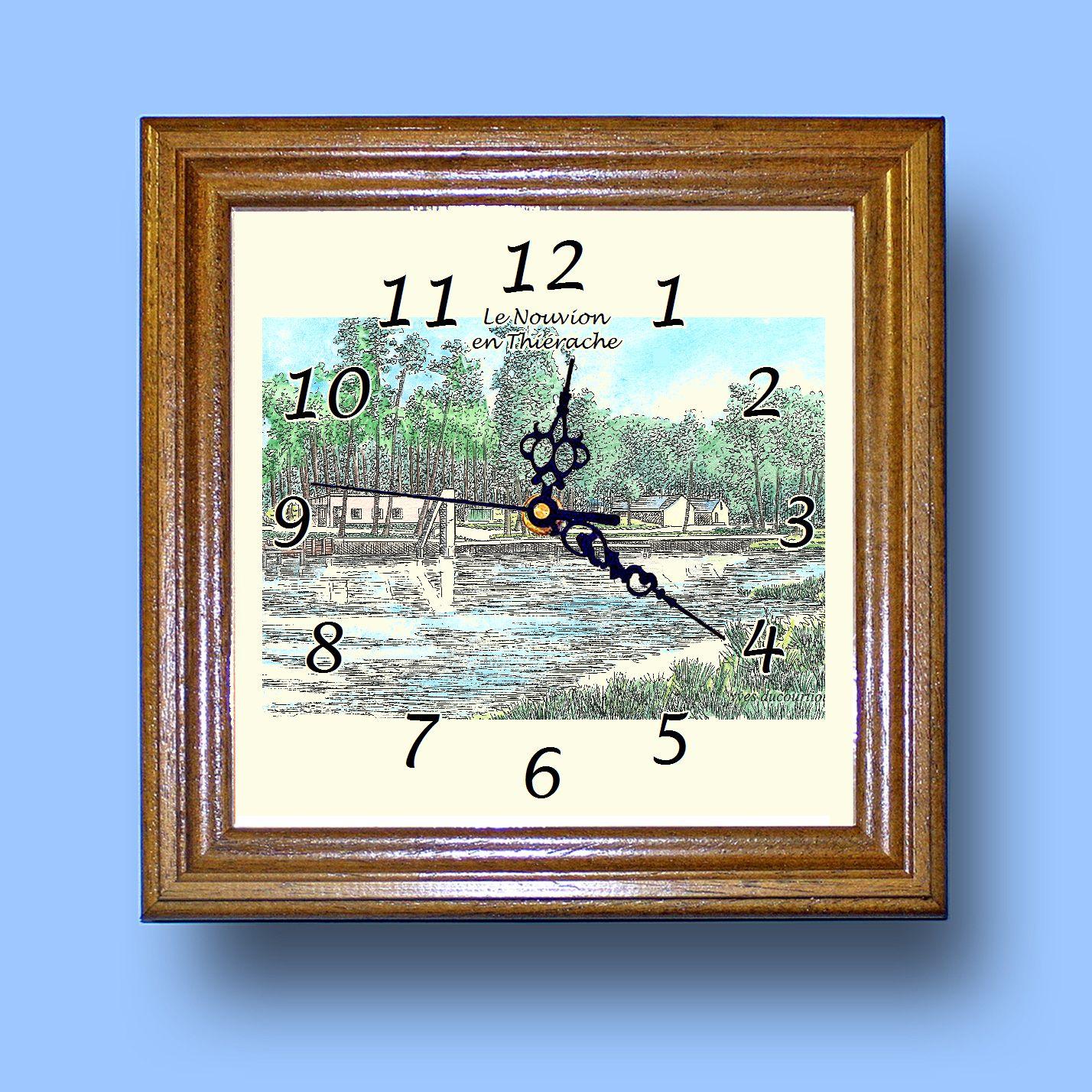 HG CL 02417 - Horloge avec une vue de 02 LE NOUVION EN THIERACHE c4E6Amn9-08070425-416689697