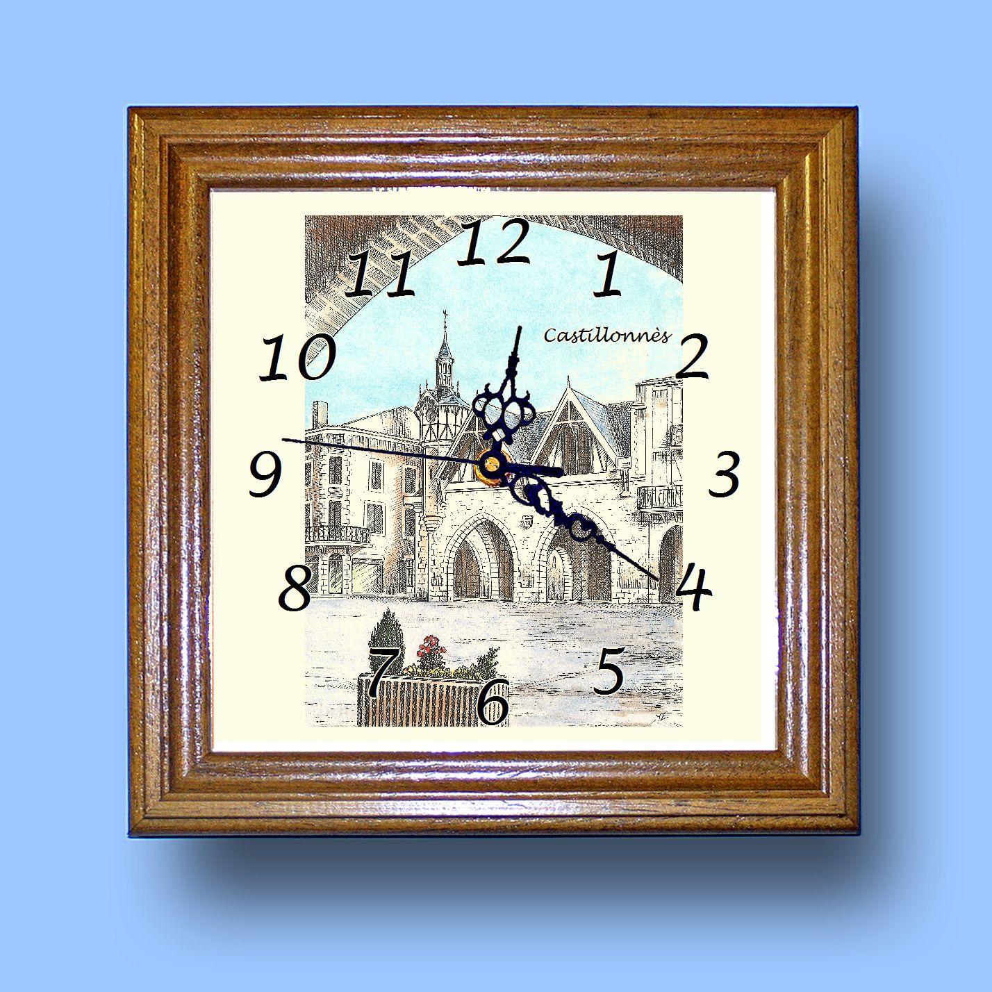 HG CL 47122 - Horloge avec une vue de 47 CASTILLONNES K4qhzAua-08055929-618689416