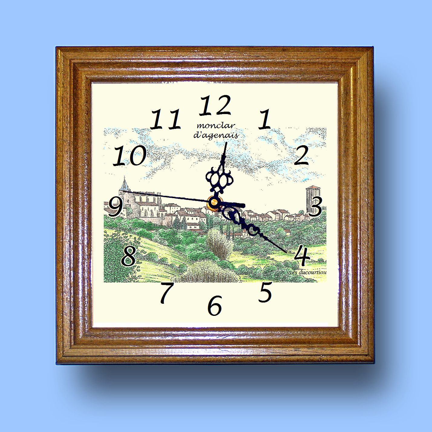 HG CL 47308 - Horloge avec une vue de 47 MONCLAR D AGENAIS Ohl2i4iR-08033734-192650995
